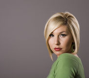 Blonde with Eyes and Lips Stock Photography