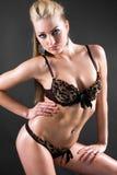 Blonde féminine de forme physique Images stock