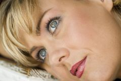 Blonde facees Stockbilder