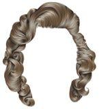 Blonde Farben der modischen Frauenhaare Schönheitsmode Retrostillocken lizenzfreie abbildung
