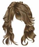 Blonde Farben der modischen Haare der Frau langen Schönheitsmode lizenzfreie abbildung