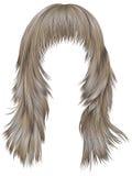 Blonde Farben der modischen Haare der Frau langen Schönheitsmode vektor abbildung