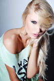 Blonde fashion girl looking sensualy Stock Photography