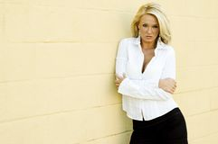 Blonde Fashion Model Stock Photography