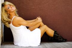 Blonde Fashion Model Royalty Free Stock Photos