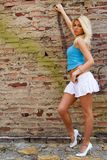 Blonde fashion model Royalty Free Stock Photography