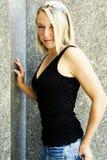Blonde fashion model Royalty Free Stock Photos