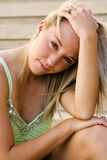 Blonde fashion model Stock Images