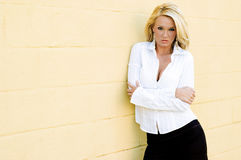 Blonde Fashion Model Stock Photo