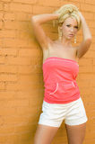 Blonde Fashion Model Royalty Free Stock Images