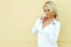 Blonde Fashion Model Royalty Free Stock Photo