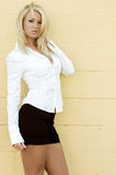 Blonde Fashion Model Royalty Free Stock Photo