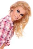 Blonde feliz imagens de stock