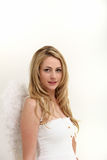 Blonde female angel Royalty Free Stock Photo