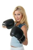 Blonde Female Boxing Royalty Free Stock Images