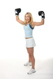 Blonde Female Boxing Royalty Free Stock Image
