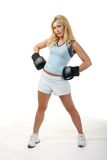 Blonde Female Boxing Stock Photo