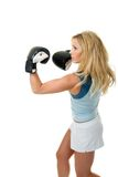 Blonde Female Boxing Royalty Free Stock Photo