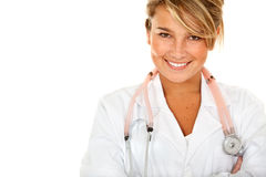 Blonde female doctor Stock Photo