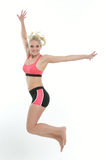 Blonde female fitness model Stock Photo