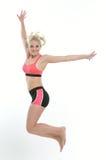 Blonde female fitness model Stock Photo