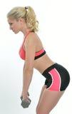 Blonde female fitness model Royalty Free Stock Photos