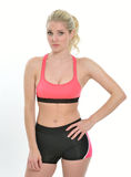 Blonde female fitness model Royalty Free Stock Photography