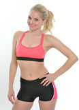 Blonde female fitness model Stock Photography