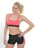 Blonde female fitness model Stock Photography