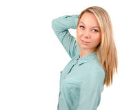 Blonde female model Royalty Free Stock Photo