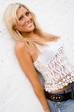 Blonde Female Model Stock Photography