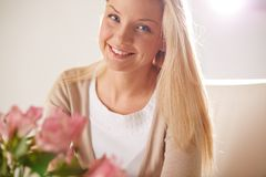 Blonde female Stock Photography