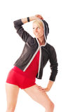 Blonde female in sports wear Stock Photography