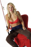 Blonde Fisherbabe Royalty Free Stock Images