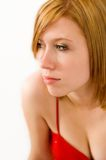 Blonde fissante Fotografie Stock