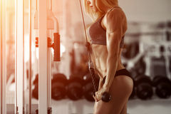 Blonde fitness girl Stock Images