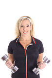 Blonde Fitness Trainer Royalty Free Stock Photo