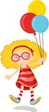 Blonde Floating. Blonde Girl floating due to balloons Stock Images