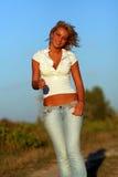Blonde Frau Lizenzfreie Stockfotos