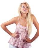 Blonde Frau Stockfotos