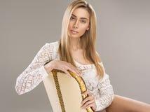 Blonde Frau Stockfotografie