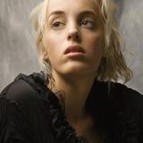 Blonde Frau. Stockbild