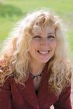 Blonde Frau Stockfoto