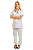 Blonde Frau als Krankenschwester Stockfotos