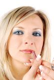 Blonde Frau bilden Lizenzfreies Stockfoto