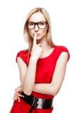 Blonde Frau in der Büroart Lizenzfreie Stockfotos