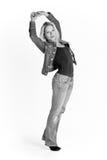 Blonde Frau in der beiläufigen Kleidung Lizenzfreies Stockfoto