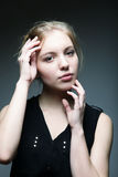 Blonde Frau der jungen Mode Stockbild