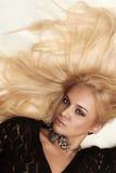 Blonde Frau der schönen Leidenschaft Lizenzfreies Stockbild