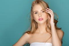Blonde Frau der schönen Mode Stockbild